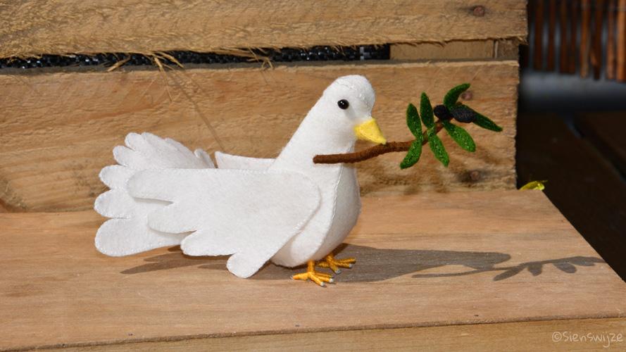 Seizoentafel duif vilt